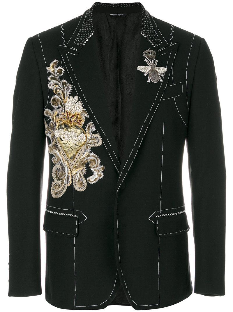 Dolce & Gabbana Embroidered Applique Jacket
