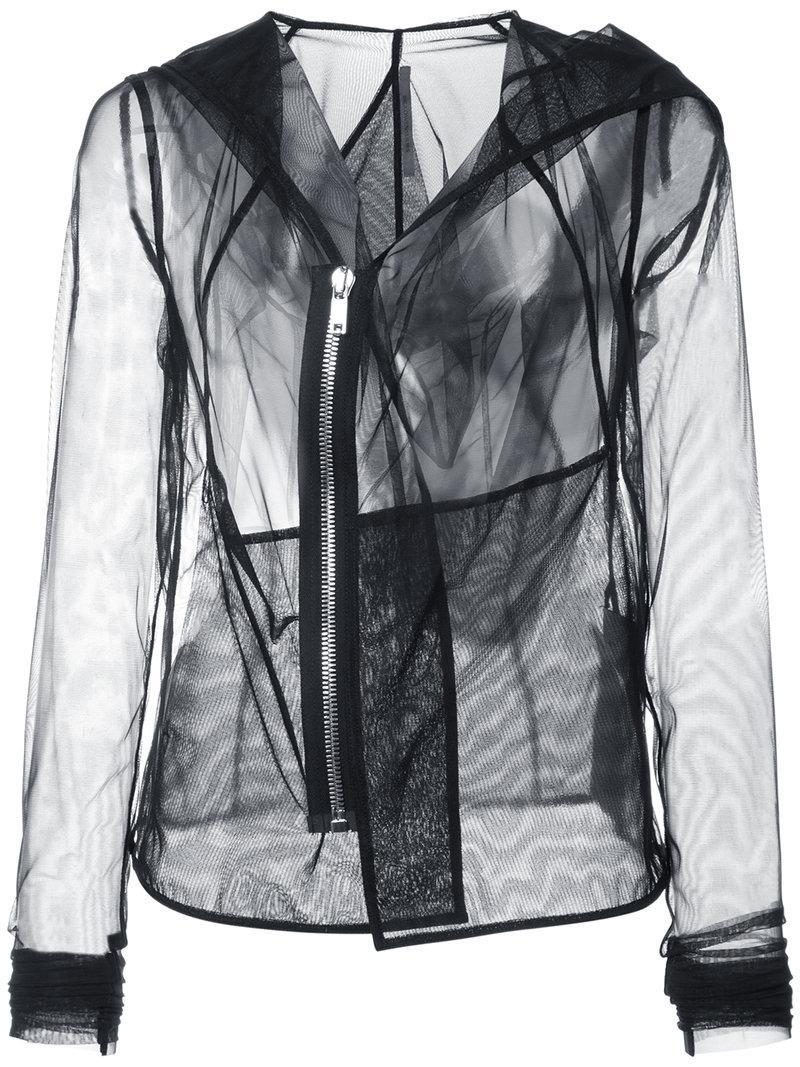 Rick Owens Sheer Long Sleeved Jacket