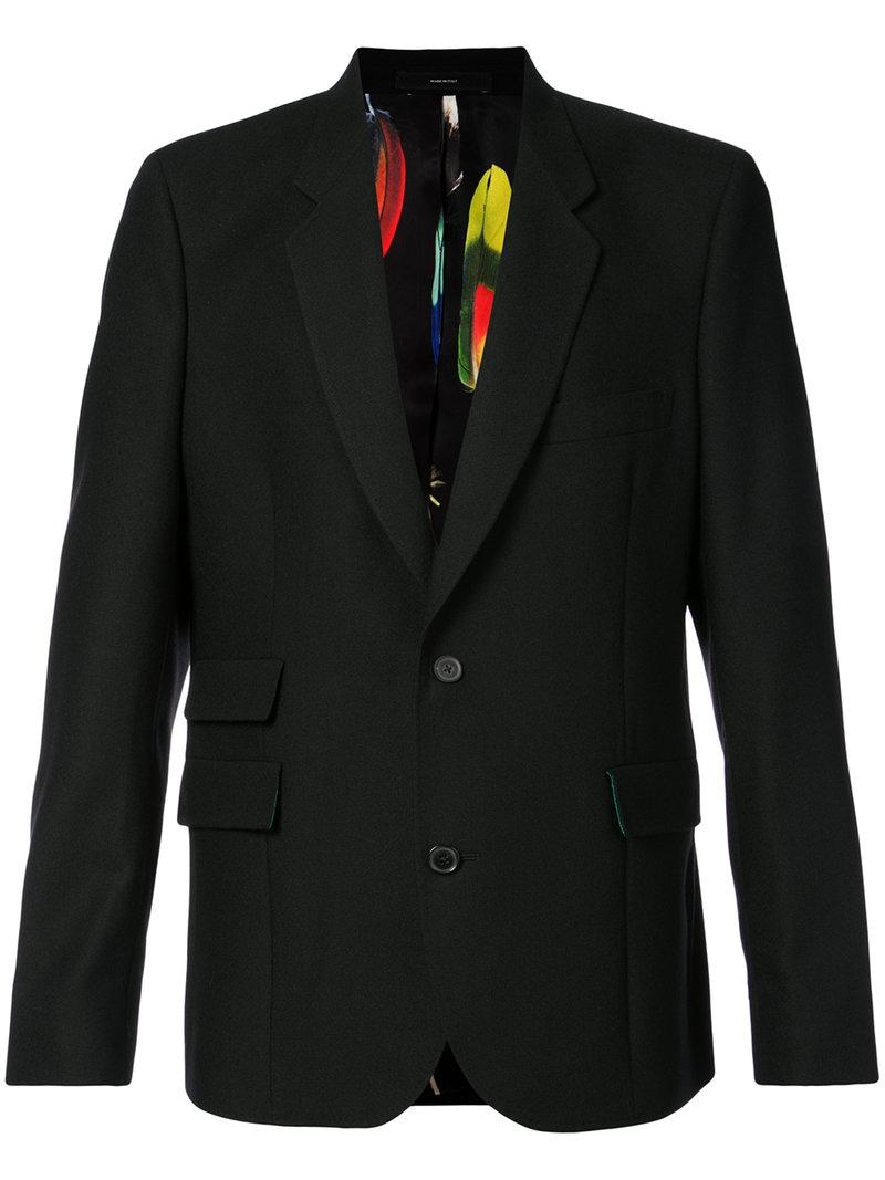 Paul Smith Classic Fitted Blazer In Black