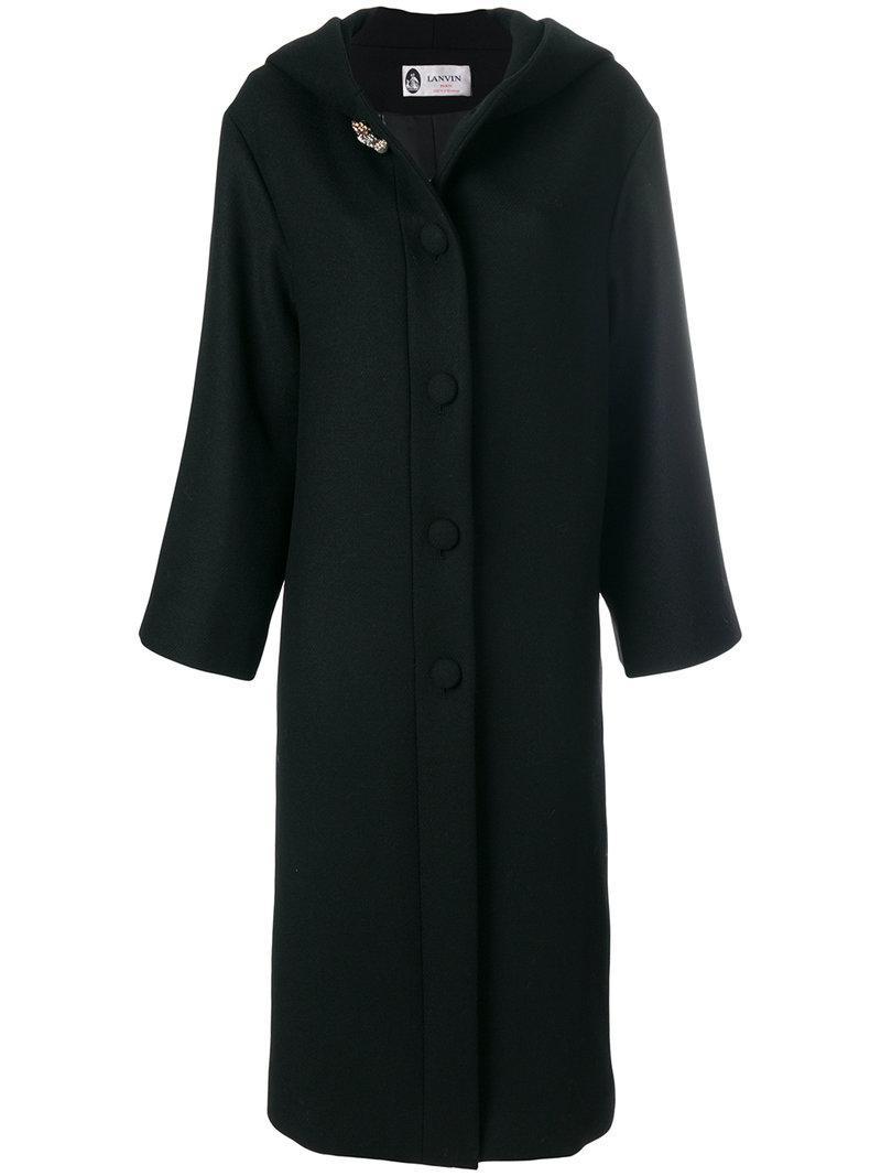 Lanvin Embellished Long Coat