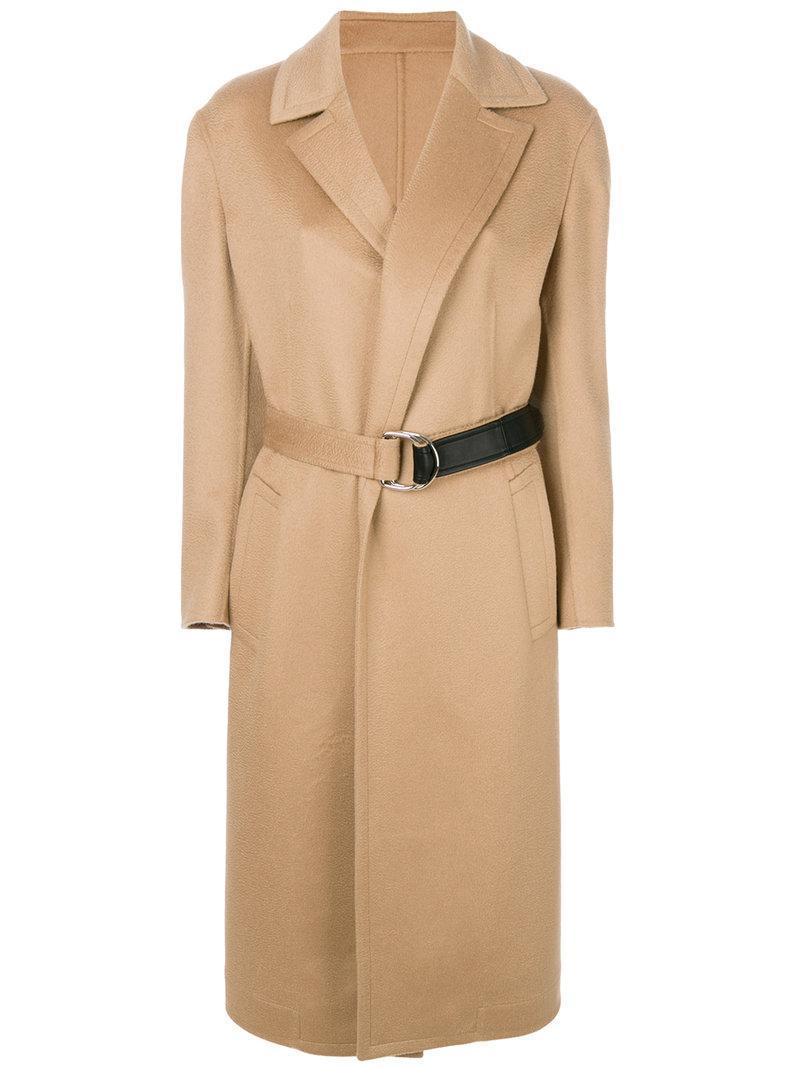 Calvin Klein 205w39nyc Belted Wrap Coat In Neutrals