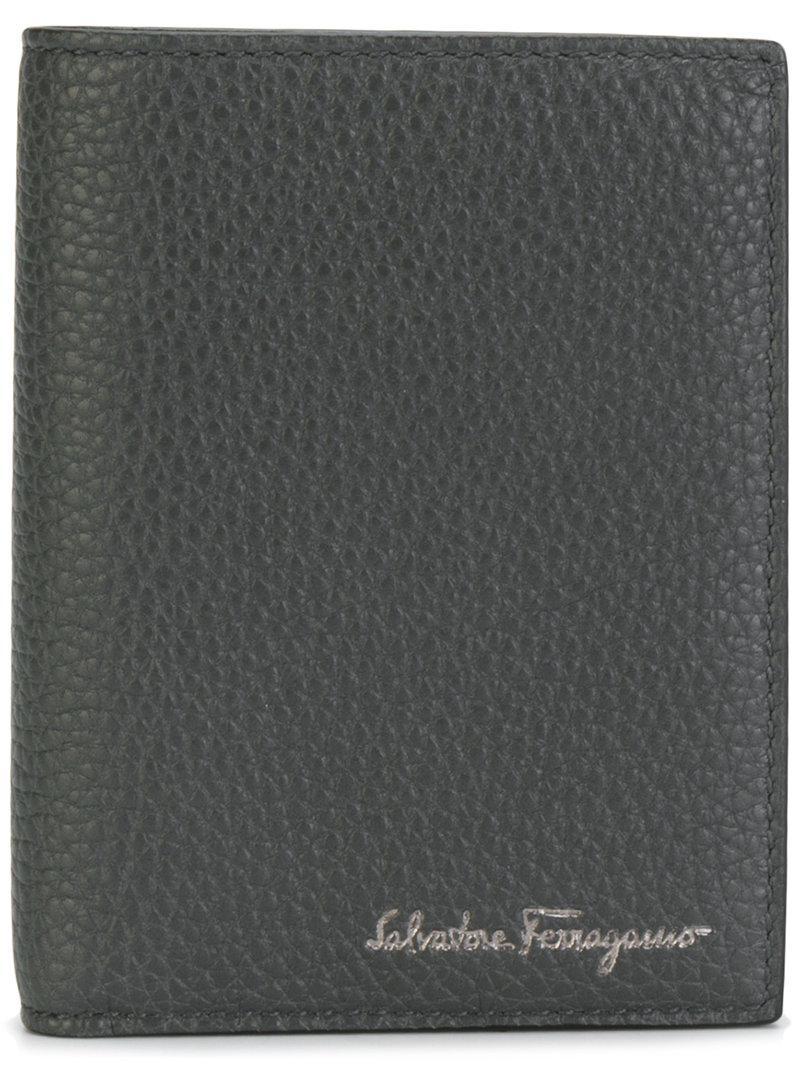Salvatore Ferragamo Embossed Tri-fold Wallet