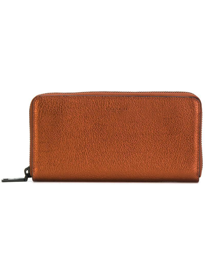 Coach Metallic Zipped Wallet