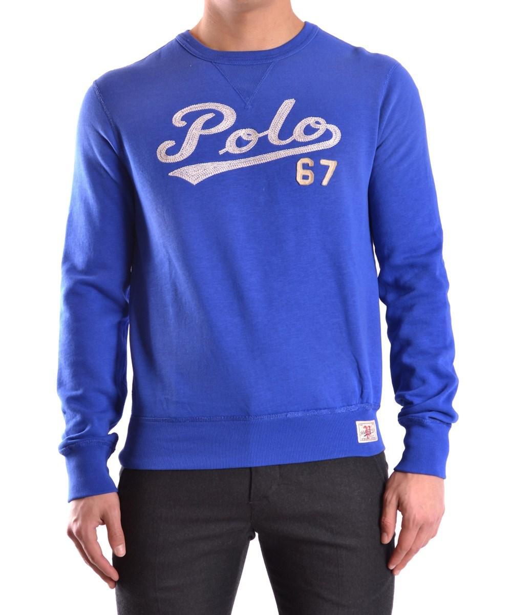 Ralph Lauren Men's  Blue Cotton Sweatshirt