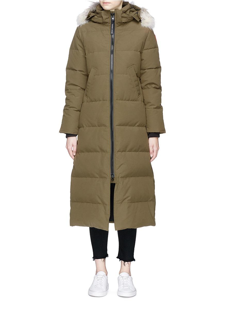 Canada Goose 'mystique' Coyote Fur Hooded Long Down Puffer Parka