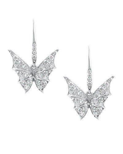 Stephen Webster Fly By Night Mini Bat-moth Diamond Earrings