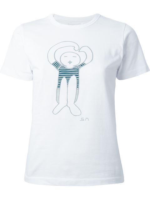 SociÉtÉ Anonyme Logo Print T