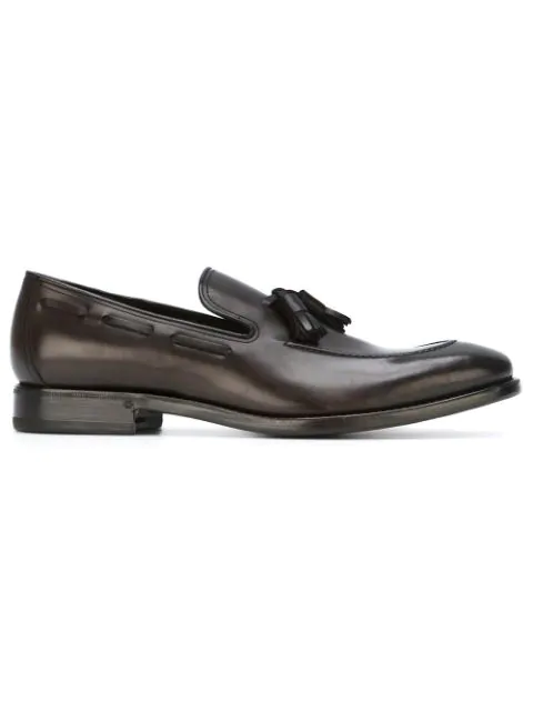 Henderson Baracco Tassel Detail Loafers In Brown