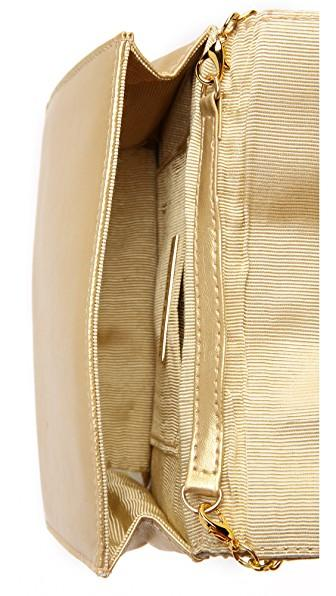 Whiting & Davis Quilted Tassel Bag In Gold