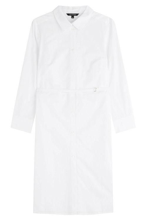 Tara Jarmon Cotton Shirt Dress In White