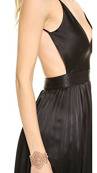 One By Contrarian One By Babs Bibb Maxi Dress In Black