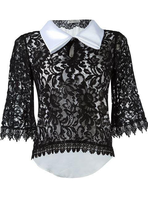 Martha Medeiros Lace Blouse - Black