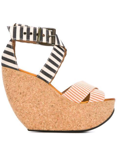 Minimarket 'wati' Wedge Sandals In Black