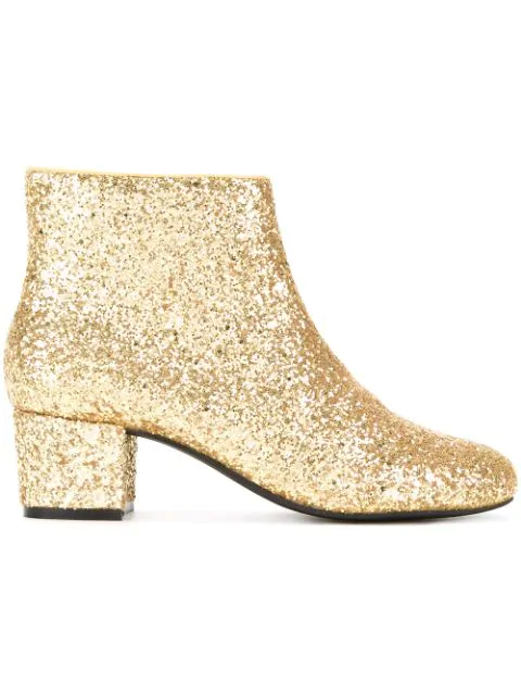 Macgraw Lucky Glitter Ankle-boots In Yellow