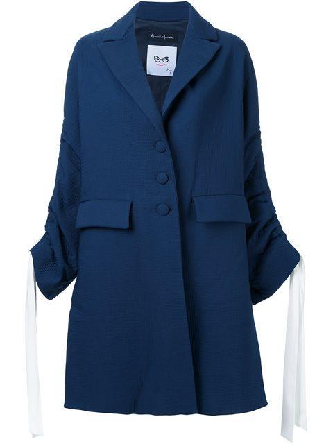Rossella Jardini Drawstring Sleeve Coat In Blue