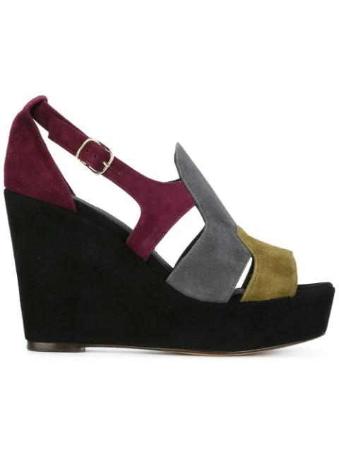 Tila March Utah Colour-block Wedge Sandals In Multicolour