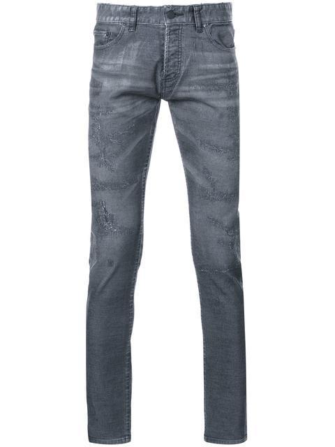 Hl Heddie Lovu Mid Rise Distressed Skinny Jeans In Grey
