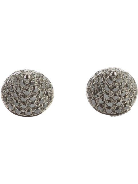 Elise Dray Diamond 'mini Muse' Earrings In Grey