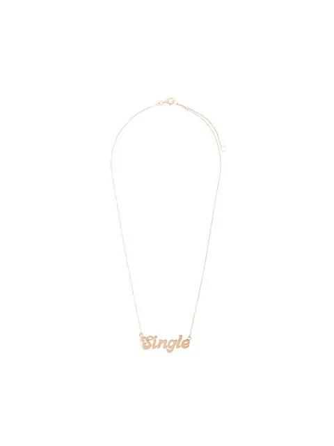 "True Rocks ""Single"" Necklace Yellow Gold In Metallic"