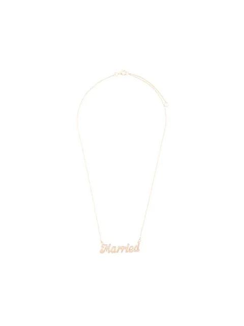 "True Rocks ""Married"" Necklace Yellow Gold In Metallic"
