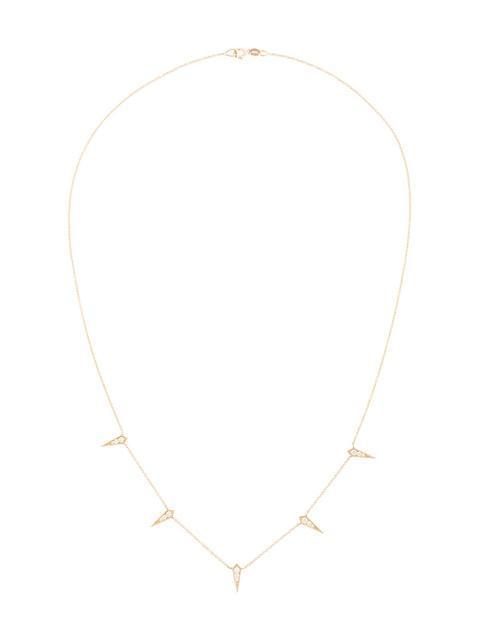 Lizzie Mandler Fine Jewelry 18kt '5 Kite' Goldhalskette Mit Diamanten In Metallic