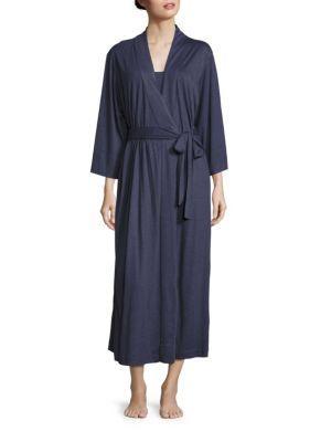 Natori Sleepwear Shangri-la Robe In Night Blue