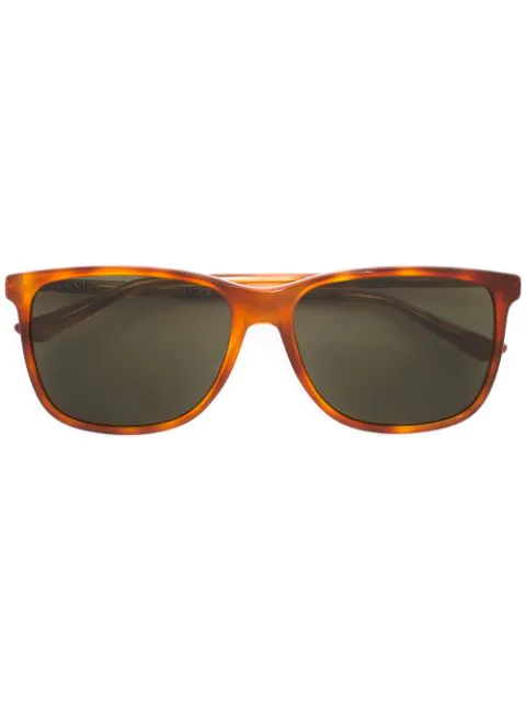 Gucci Square Sunglasses In Yellow