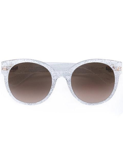 Gucci Square Frame Glitter Sunglasses In Neutrals