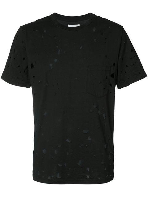 The Soloist Distressed T-shirt In Black