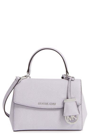 546ab8de17ab Michael Michael Kors 'Extra Small Ava' Leather Crossbody Bag In Lilac/  Silver