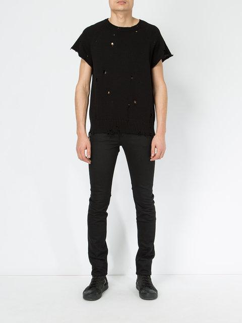The Soloist Skinny Trousers In Black