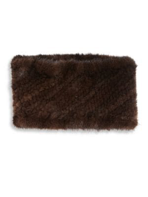 The Fur Salon Women's Mink Fur Headband In Ruby