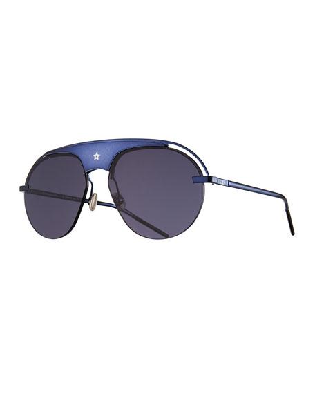 f0ab6cea007e Dior Dio(R)Evolution Mirrored Aviator Sunglasses In Blue | ModeSens