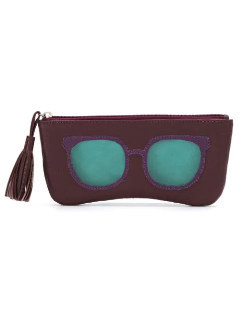 Sarah Chofakian Glasses Case In Red