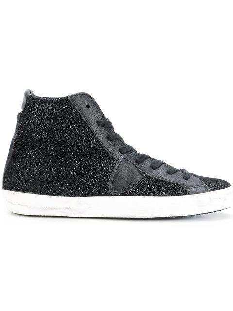 Philippe Model Black Paris Crakle Nubuk High-top Sneakers