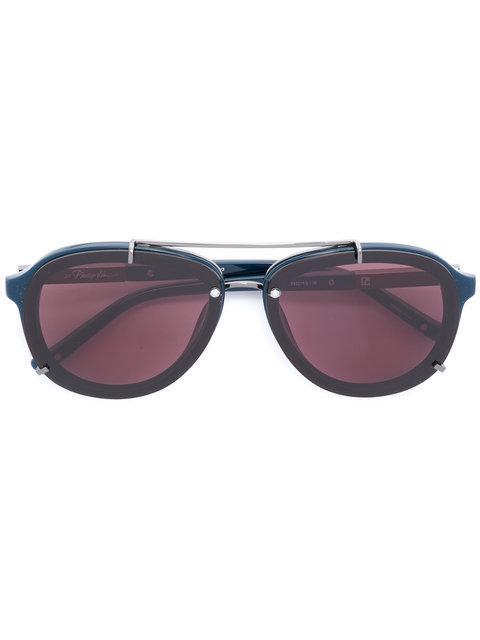 Linda Farrow Gallery Aviator-style Sunglasses - Blue