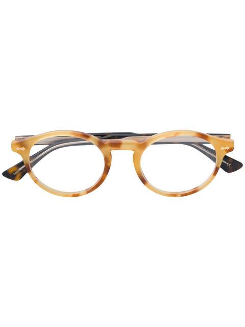 Gucci Eyewear Round Framed Glasses - Yellow In Yellow & Orange