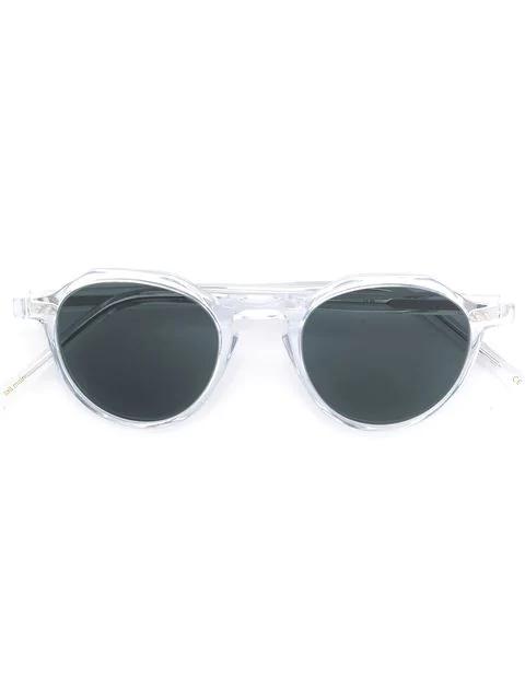 Lesca Round Frame Sunglasses