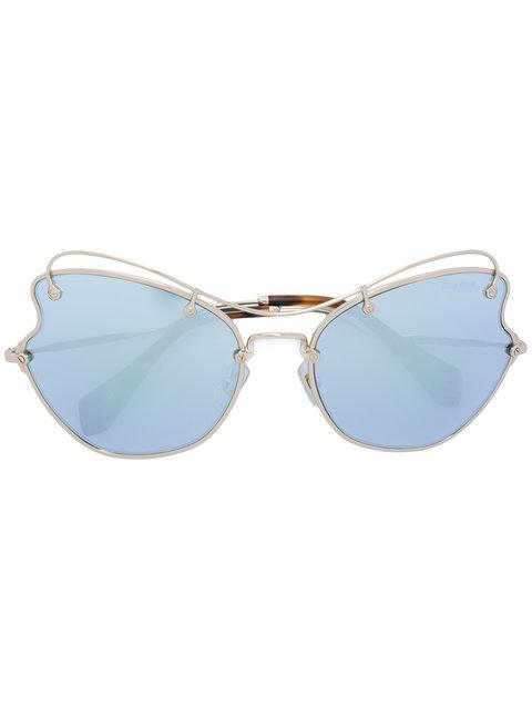 24ae62de8681 Miu Miu Eyewear Scenique Sunglasses - Metallic. Farfetch