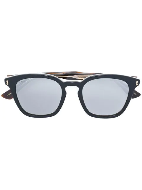 Gucci Eyewear Square Frame Sunglasses - Black In 001 Black