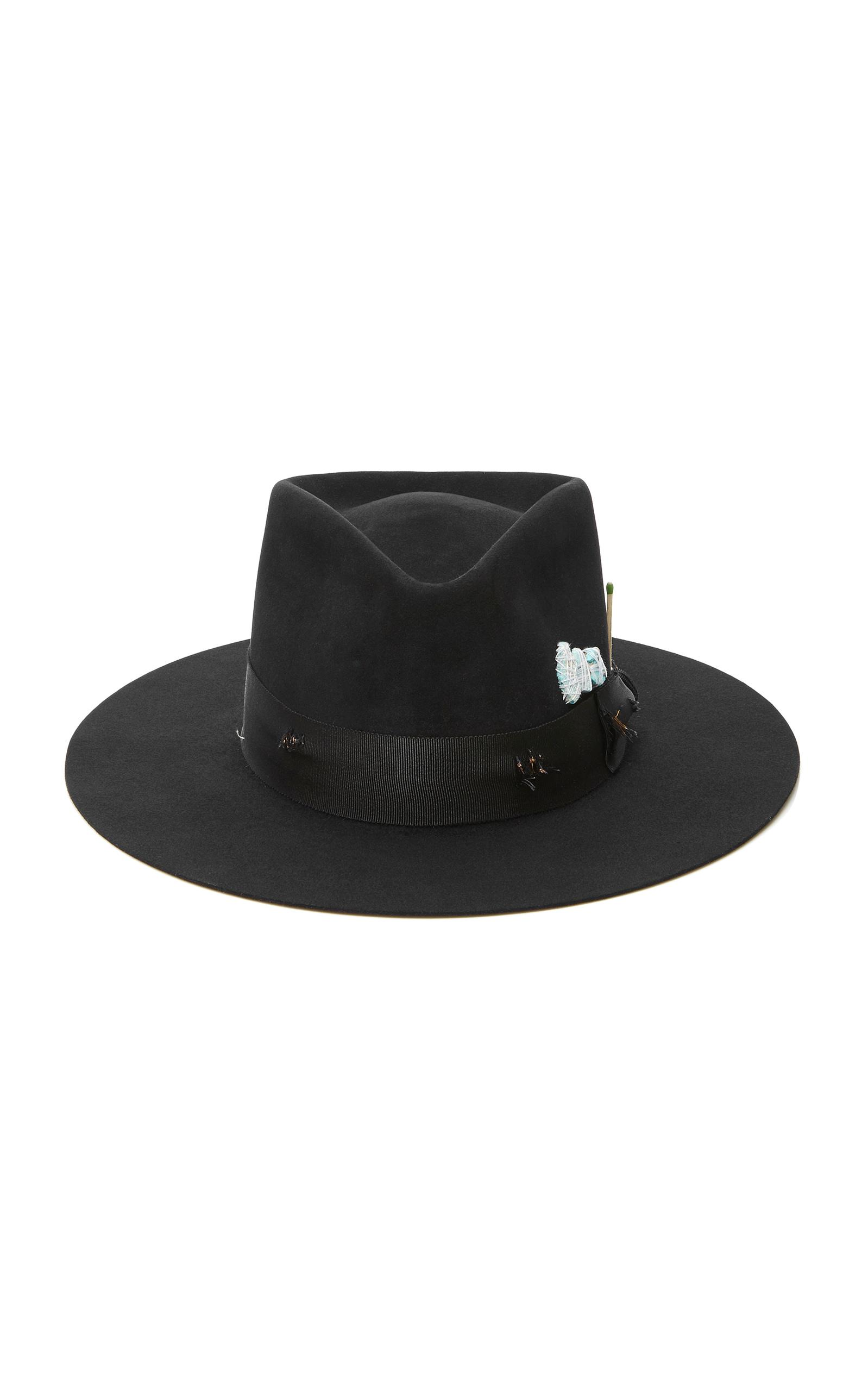 b1bbe9b8ccde Nick Fouquet Turquoise Trail Felt Fedora In Black | ModeSens