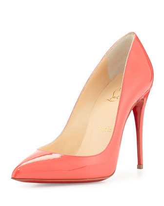 2a17fbb888c Pigalle Follies Patent Point-Toe Red Sole Pump in Orange