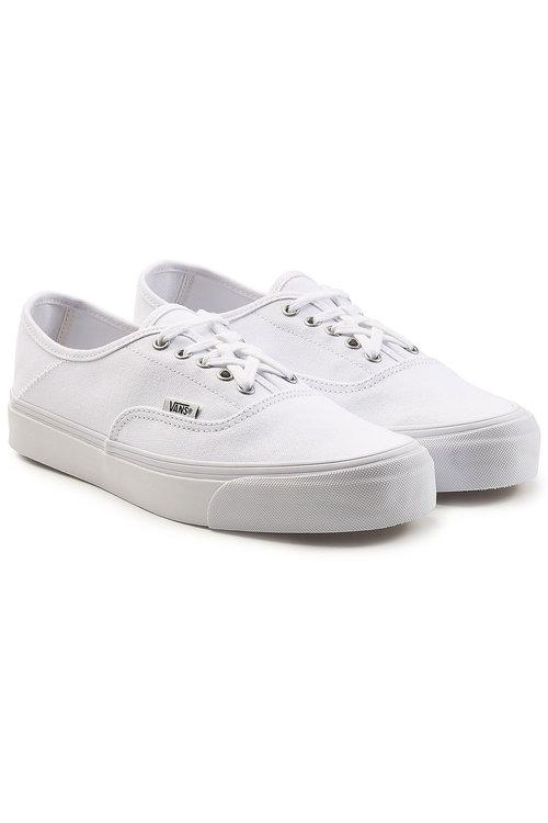 Vans Og Style 43 Authentic Canvas Sneakers In White | ModeSens