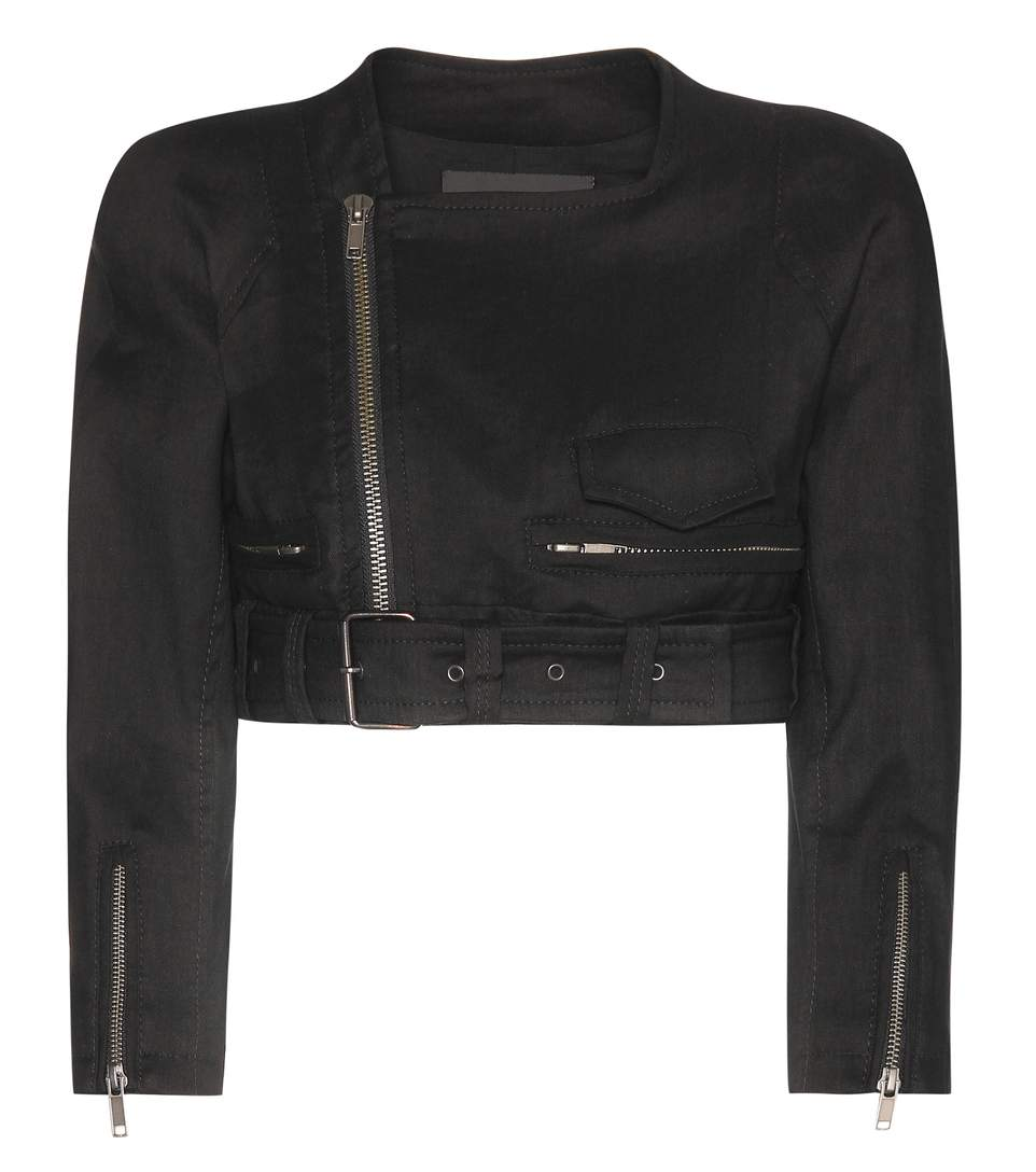 Haider Ackermann Cropped Linen And Wool-Blend Jacket In Female