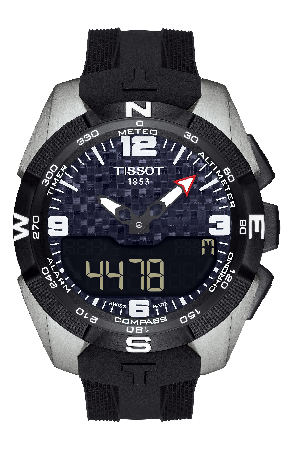 Tissot T-Touch Expert Solar Multifunction Smartwatch, 45Mm In Black/ Silver