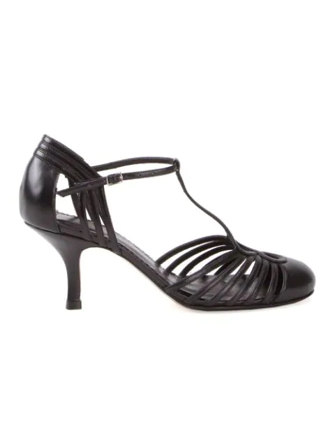 Sarah Chofakian Chamonix Leather Sandals In Black