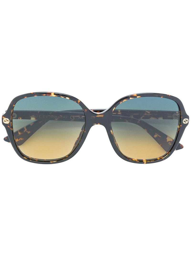 Gucci Printed Frame Sunglasses In Brown