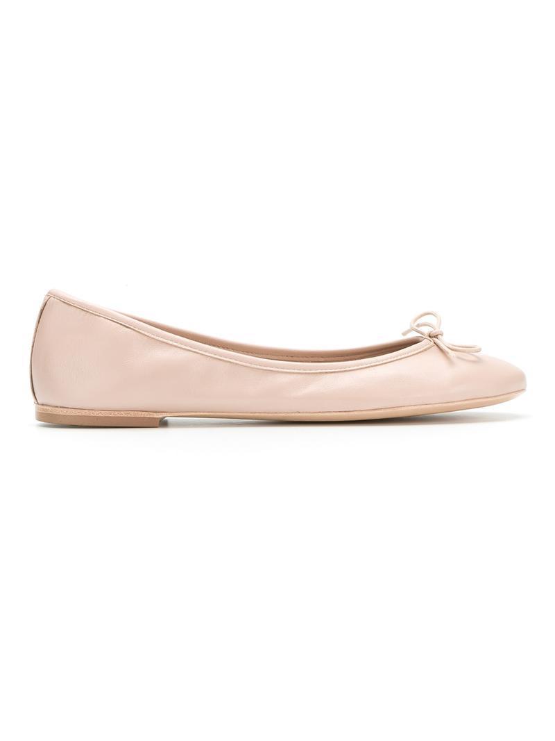Sarah Chofakian Flat Ballerinas In Neutrals