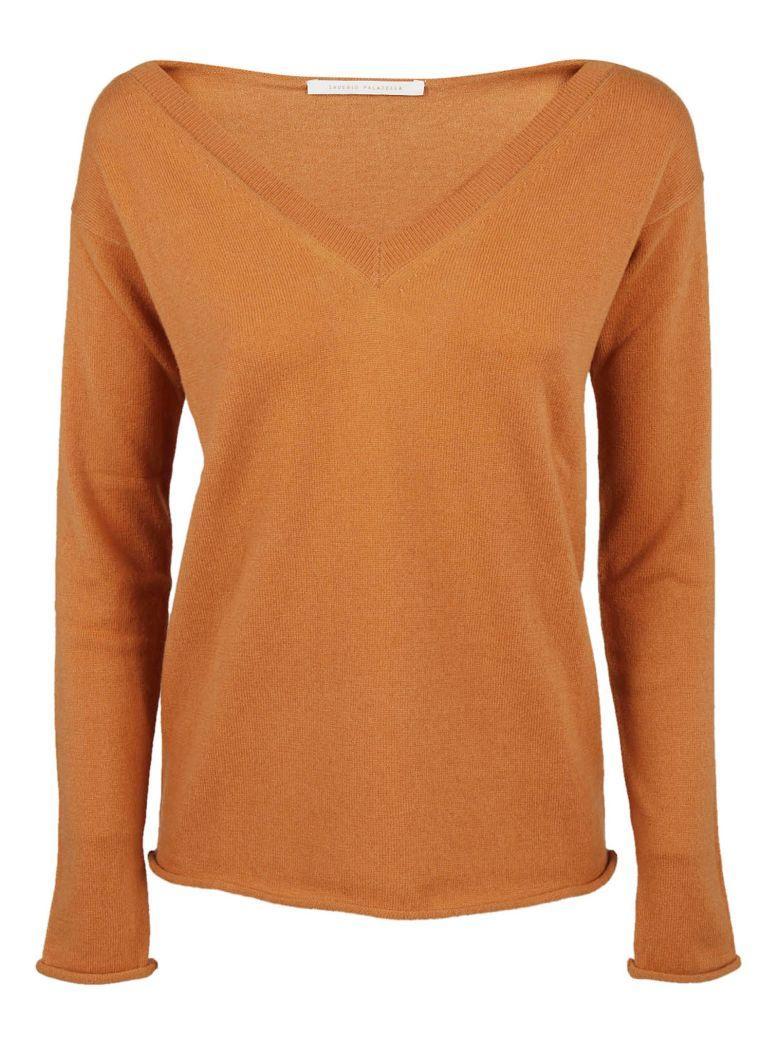 Saverio Palatella V-neck Sweatshirt In Copper