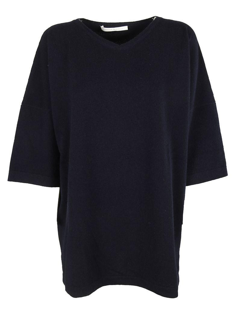 Saverio Palatella Knitted Blouse In Navy